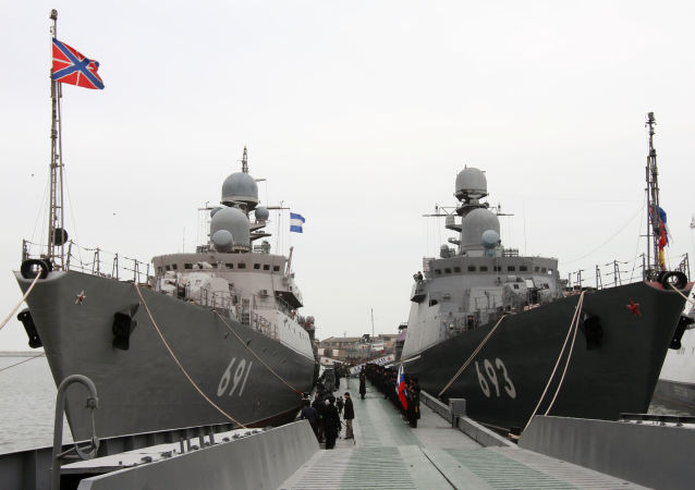 Hlídkové lodě Tatarstan a Dagestan
