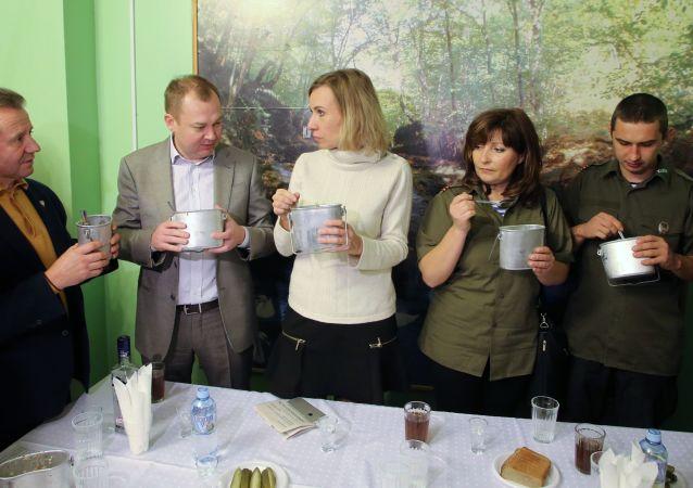 Tisková mluvčí ruského ministerstva zahraničních věcí Maria Zacharovová v Solnečnogorsku