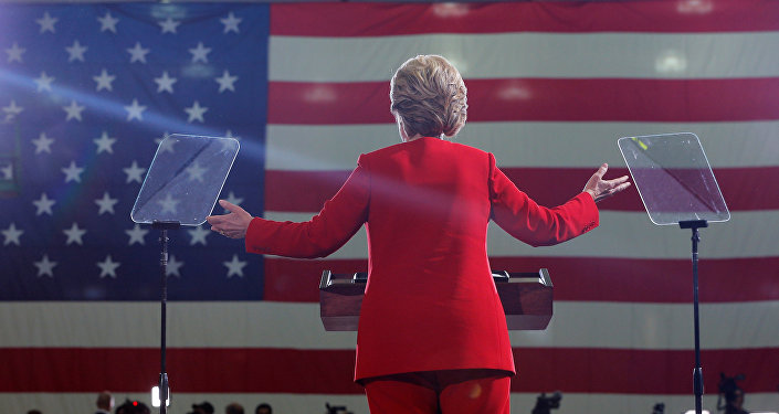 Kandidátka na funkci prezidenta USA Hillary Clintonová