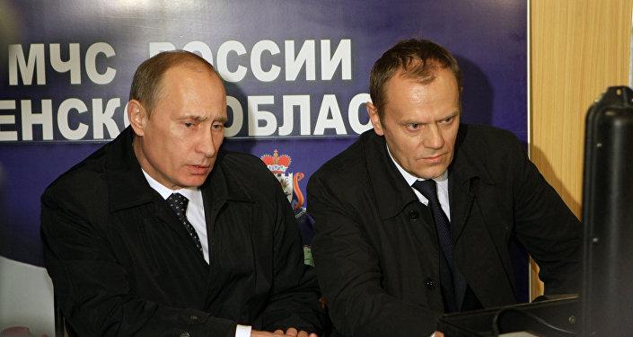 Vladimir Putin a Donald Tusk