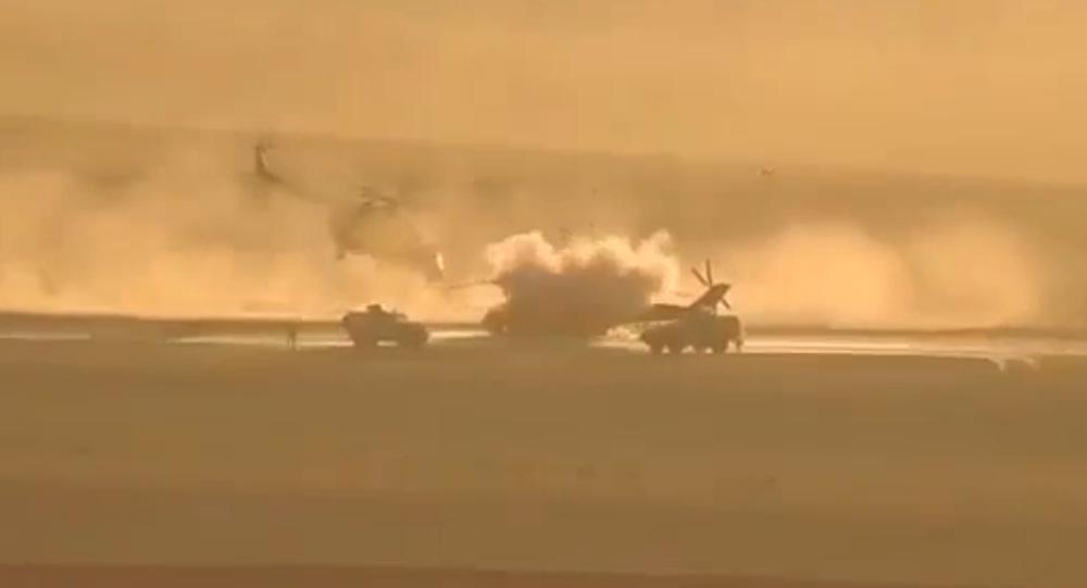 Video ostřelování ruského vrtulníku v Sýrii