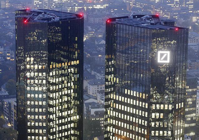 Deutsche Bank in Frankfurt. Ilustrační foto