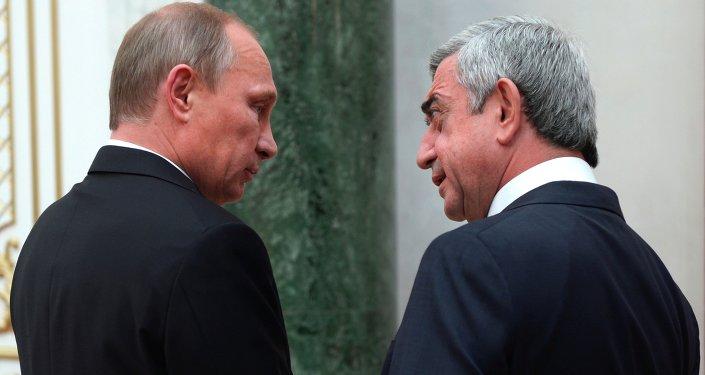 Prezident RF Vladimir Putin a prezident Arménie Serž Sarkisjan