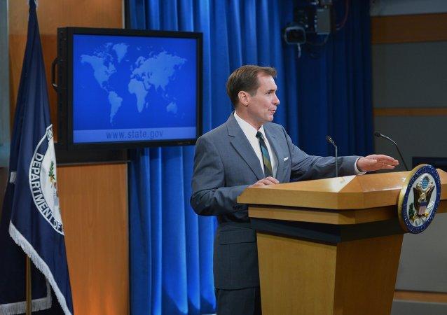 Tiskový mluvčí Ministerstva zahraničí USA John Kirby