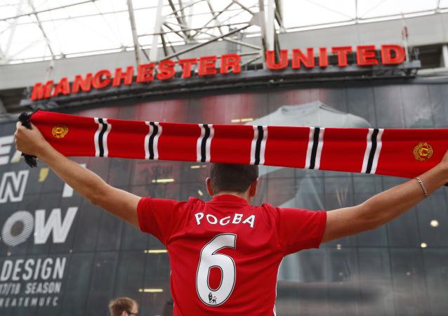 Fanoušek anglického fotbalového klubu Manchester United