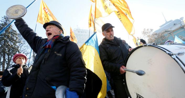 Protestní akce v Kyjevě. Archivní foto