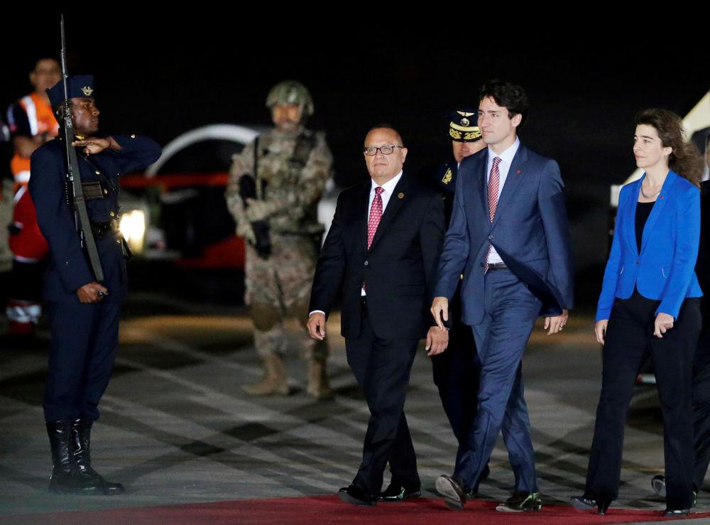Kanadský premiér Justin Trudeau na mezinárodním summitu APEC v Peru