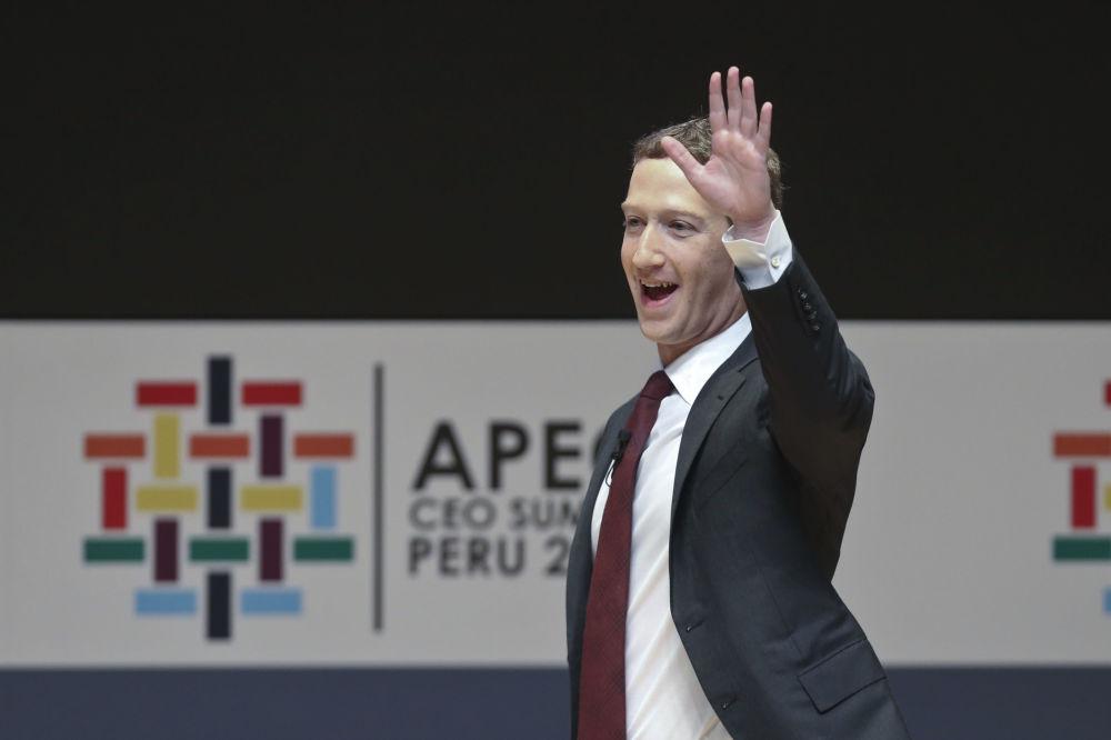 Výkonný ředitel Facebooku Mark Zuckerberg na mezinárodním summitu APEC v Peru