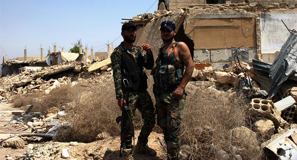Vojáci v Aleppu