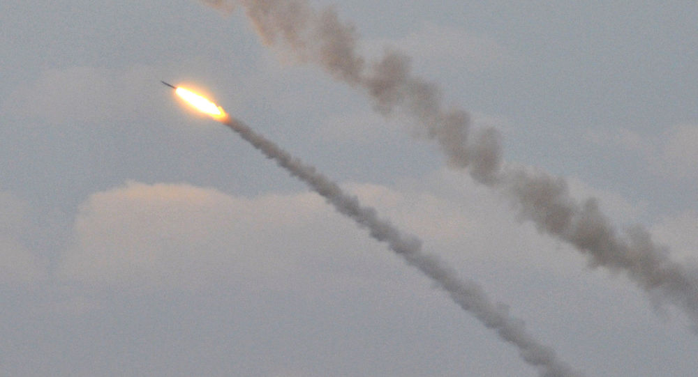 Ukrajinské raketové střelby v blízkosti Krymu. Archivní foto