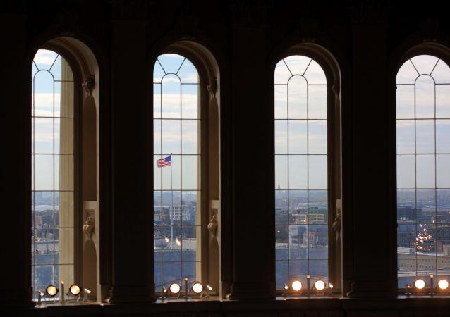 Pohled z Kapitolu USA