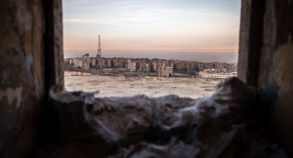 Pohled na Aleppo v Sýrii