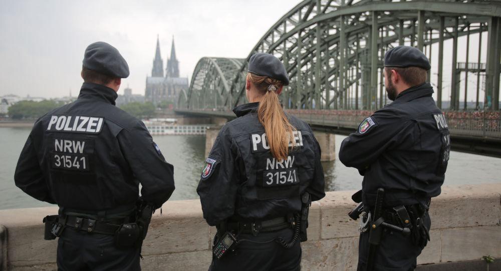 Němečtí policisté v Kolíně