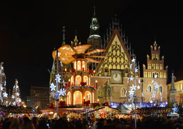 Vánoce ve Vratislavi. Ilustrační foto
