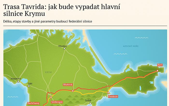 Trasa Tavrida: jak bude vypadat hlavní silnice Krymu