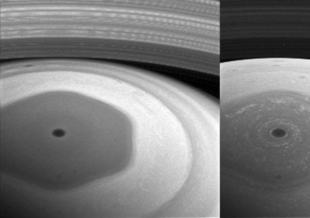 Foto Saturnu ze sondy Cassini
