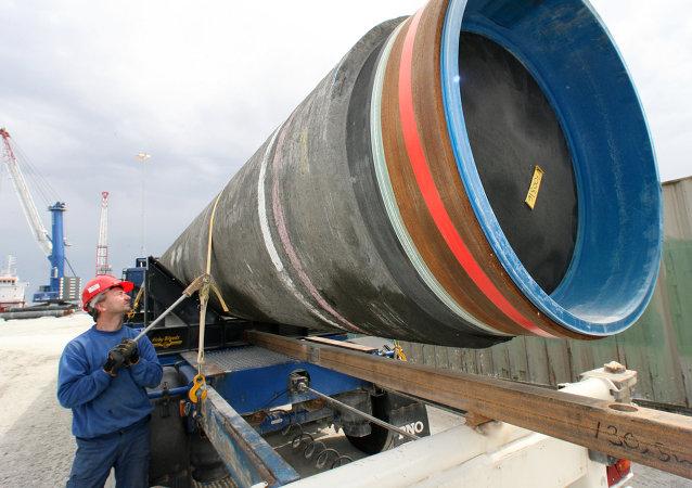 Budování plynovodu Severní proud. Ilustrační foto