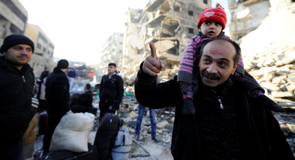 Evakuace civilistů z Aleppa