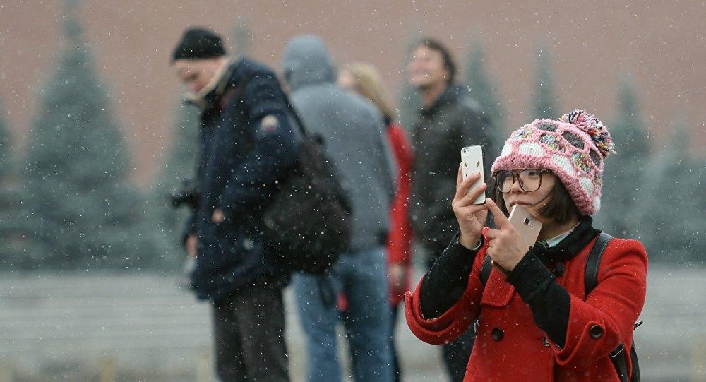 Turisté v Moskvě