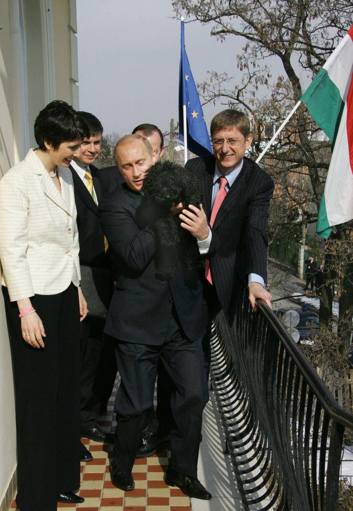 Milovník psů Vladimir Putin