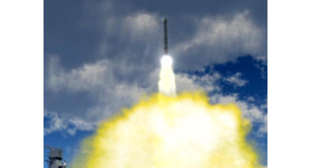 Hypersonická raketa během vypuštění. Ilustrace