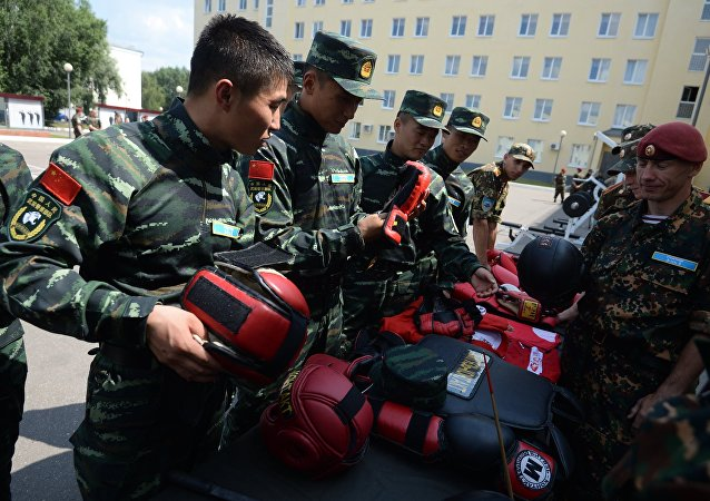 Společné cvičení ruské Národní gardy a čínské armády. Ilustrační foto
