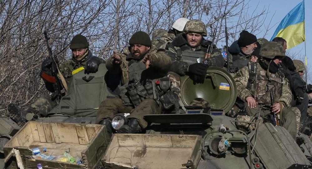Ukrajinští vojáci u Debalceve. Ilustrační foto
