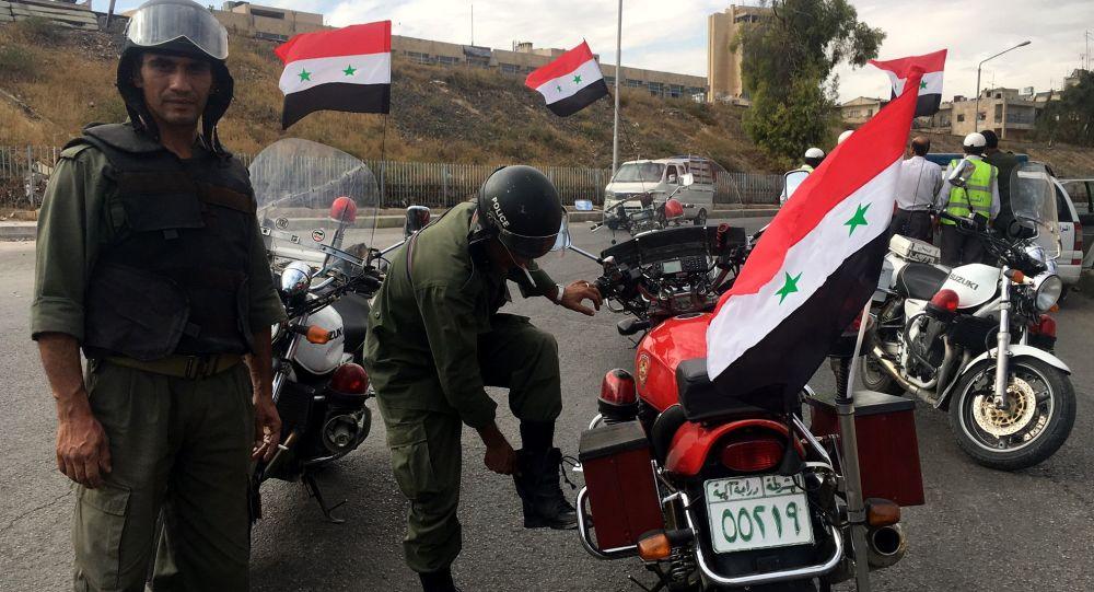 Policie v Aleppu