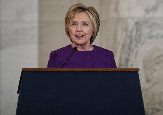 Bývalá kandidátka na prezidenta USA za Demokratickou stranu Hillary Clintonová