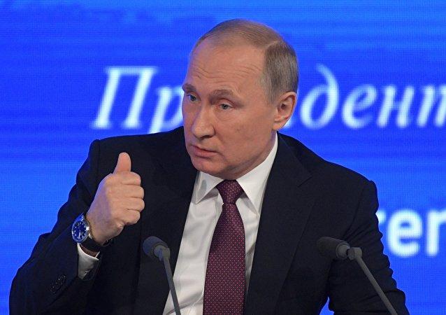 Tisková konference Vladimira Putina