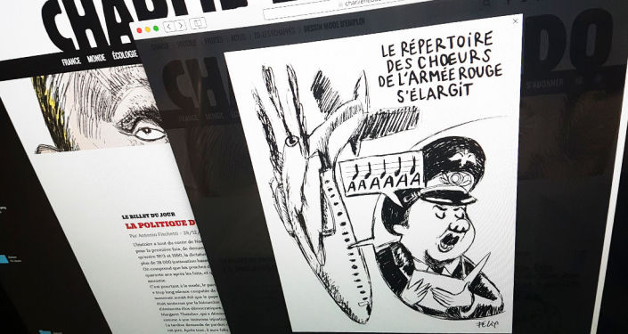 Charlie Hebdo zveřejnil karikaturu pádu letadla Tu-154
