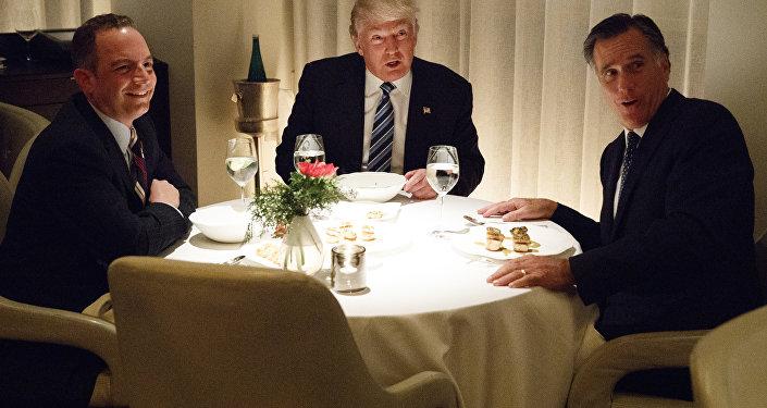 Donald Trump a Mitt Romney