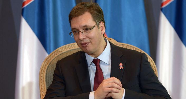 Předseda srbské vlády Aleksandar Vučić
