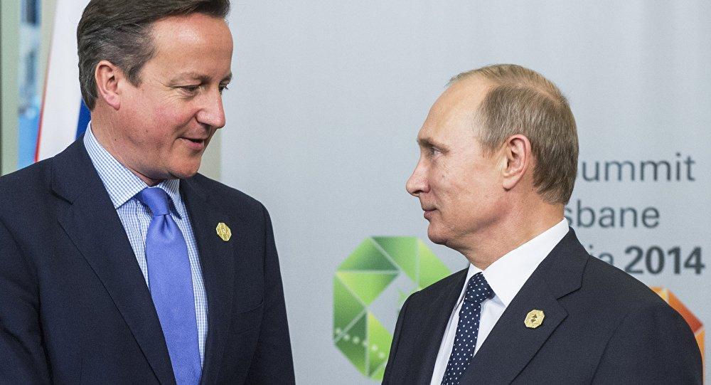 Prezident Ruska Vladimir Putin a ministerský předseda Velké Británie David Cameron