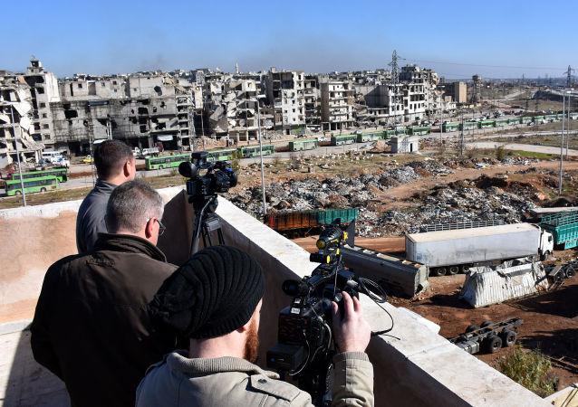 Novináři v Aleppu