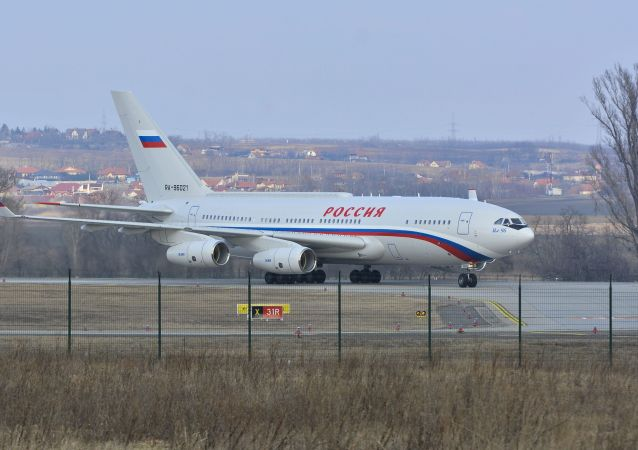 Letadlo s prezidentem RF Vladimirem Putinem