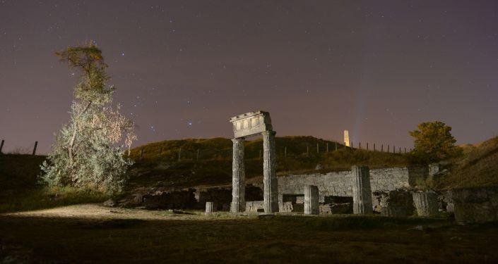 Trosky antického města Pantikapej v Kerči