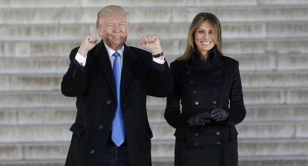 Donal Trump a jeho manželka Melania