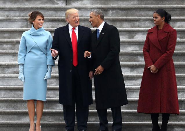 Donald Trump, Barack Obama a jejich ženy