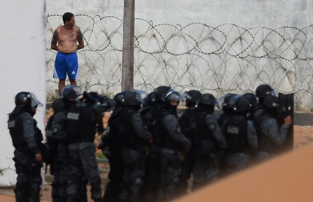 Policie ve věznici brazilského města Natal, kde vypukla vzpoura