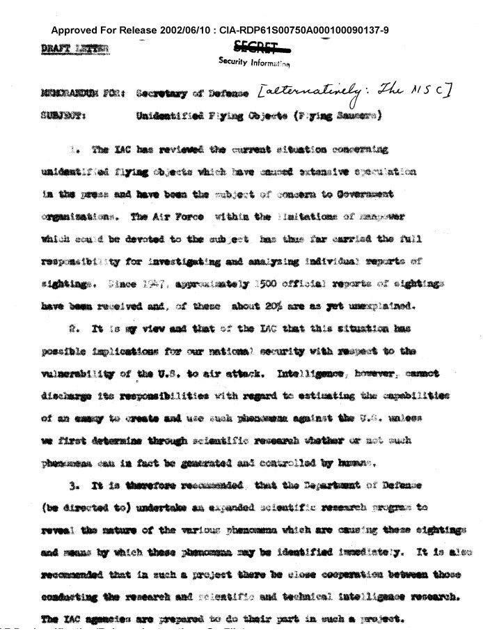 Archivní dokument CIA