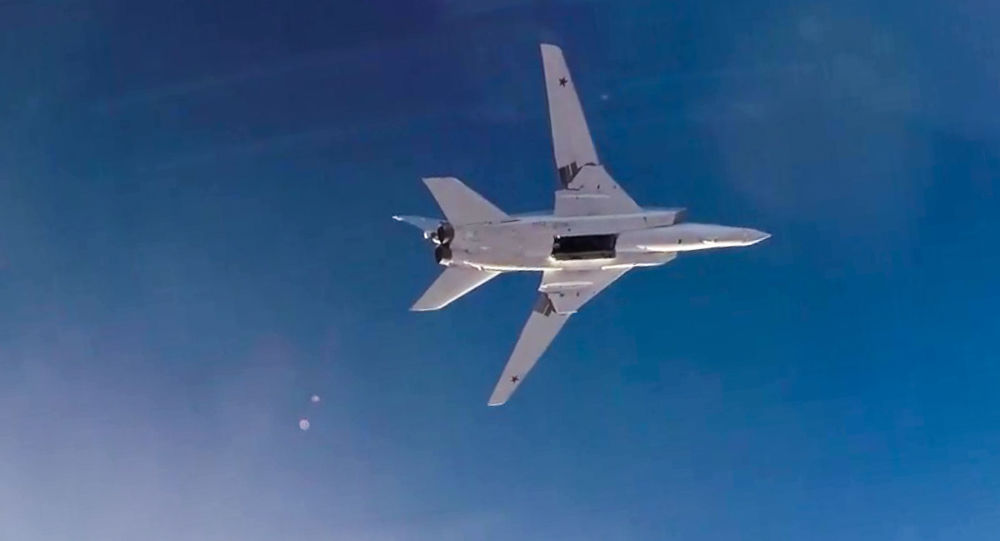 Bombardér Tu-22M3 během útoku v Sýrii