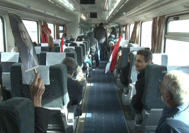 Do Aleppa dorazil první vlak od začátku války