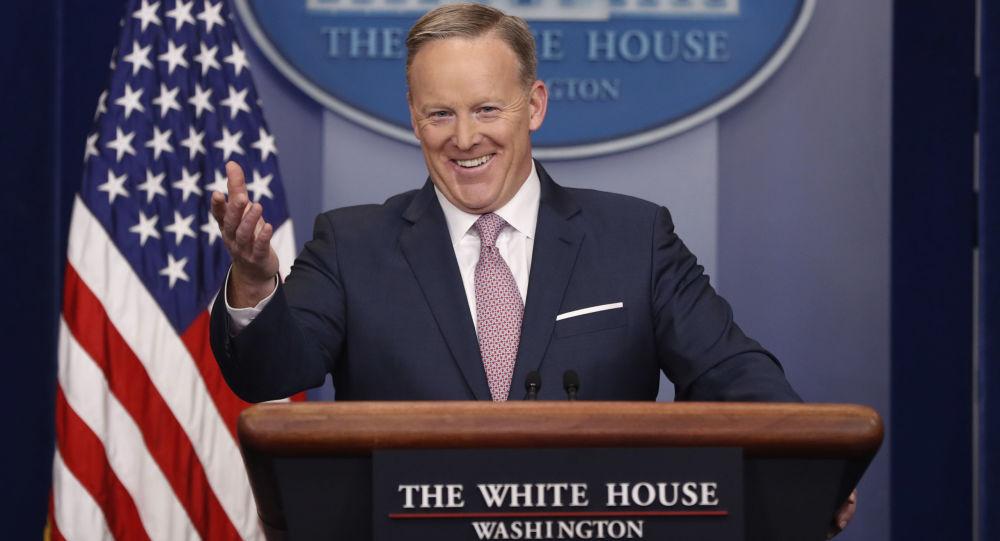 Tiskový mluvčí prezidenta USA Donalda Trumpa Sean Spicer