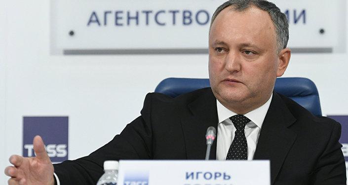 Moldavský prezident Igor Dodon