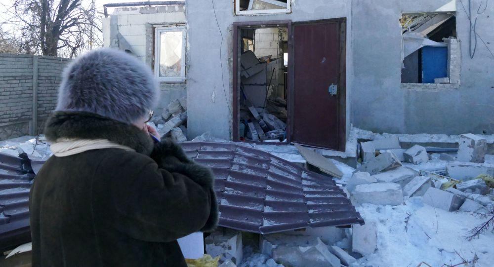 Následky ostřelování ve městě Makejevka v DLR