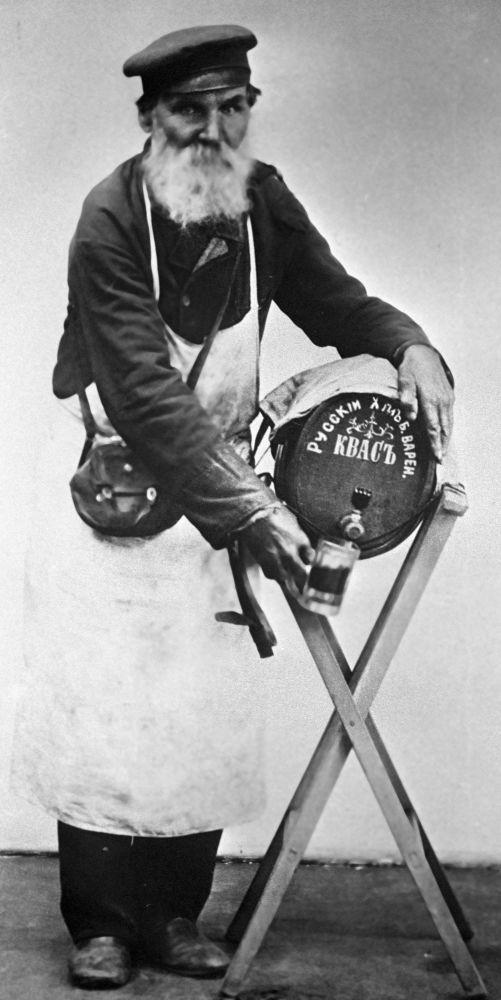 Moskevský prodavač kvasu, rok 1913