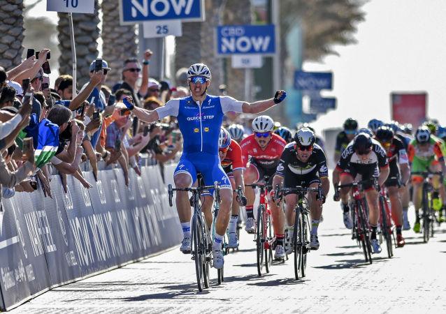Německý cyklista Marcel Kittel během závodu Dubai Tour 2017