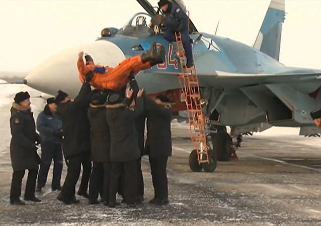 Letecké křídlo Admirála Kuzněcova se vrátilo do Ruska