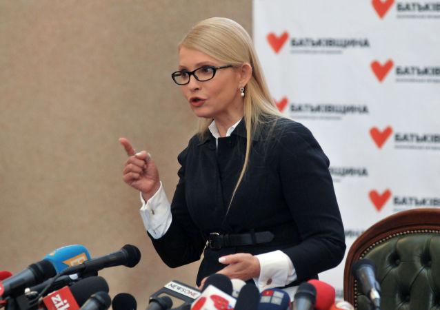 Předsedkyně ukrajinské opoziční strany Baťkivščyna Julija Tymošenková